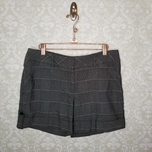 White  House Black Market Gray Shorts